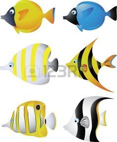 flag of Ocean Simply breathtaking - sea life Fish Drawings, Cute Animal Drawings, Cartoon Drawings, Felt Fish, Underwater Painting, Fish Crafts, Colorful Quilts, Fabric Painting, Watercolor Paintings
