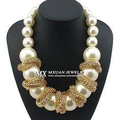 7bda22b6691d collares de perlas grandes - Buscar con Google Collares Con Piedras