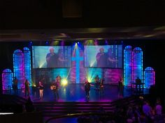 Stained Beauty from Christ Fellowship in Miami, FL | Church Stage Design Ideas