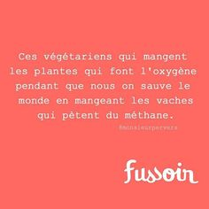 #vegetarian #ecolo #fussoir #humour merci @nous_autres