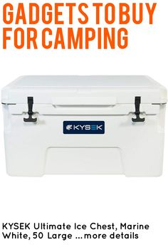 KYSEK Ultimate Ice Chest, Marine White, 50 Large … (This is an affiliate link) #campingkitchen