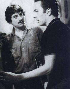 Robert De Niro and Joe Strummer of The Clash.