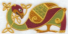 Machine Embroidery Designs at Embroidery Library! Medieval Embroidery, Dark Ages, Bird Design, Machine Embroidery Designs, Vikings, Celtic, Coin Purse, Kids Rugs, Quilts