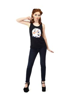 Girl Fight Level 2 Unisex Tank – Ghost & Stars