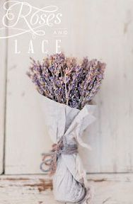 rustic lavender bunch-  as if just come from a french flower market