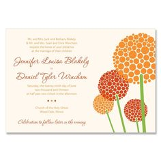 Allium - Unique Wedding Invitation by The Green Kangaroo