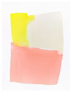 original large watercolor, summer color form, beige yellow and pink, one-of-a-kind contemporary painting // inches Pantone, Palette Pastel, Joan Mitchell, Color Stories, Summer Colors, Color Theory, Contemporary Paintings, Color Inspiration, Art Paintings