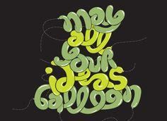 balloon lettering