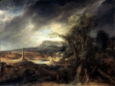"Long attributed to Rembrandt, ""Landscape With an Obelisk"" was recognized in the 1980s as the work of his pupil, Govaert Flinck, according to the museum."