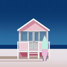 Clément Dezelus / Pink House Peep Show, Illustration Plate, Graphic Illustration, Photomontage, Nagel Art, Art En Ligne, Pink Houses, Illustrations, Flat Design