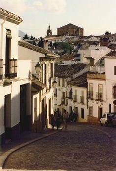 View in Ronda- Andalusia, Spain  looking toward the Church of Santa Maria la Mayor