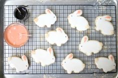 how to make the cutest bunny cookies for Easter