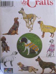 Simplicity 9520 Dog Clothes Sewing Pattern New/Uncut One Size Dog Coat Dog Vest Dog T-shirt Dog Bathrobe Dog Backpack Fits Dogs to neck, to body length and weighing approx. 30 to 46 lbs. Cat Crafts, Sewing Crafts, Diy Gifts Last Minute, Large Dog Clothes, Fleece Dog Coat, Dog Backpack, Simplicity Sewing Patterns, Dog Coats, Dog Houses