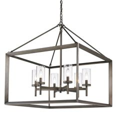 Buy the Golden Lighting GMT Gunmetal Bronze Direct. Shop for the Golden Lighting GMT Gunmetal Bronze Smyth 6 Light 1 Tier Wide Chandelier and save. Kitchen Chandelier, Glass Chandelier, Chandelier Lighting, Chandeliers, Lantern Pendant, Pendant Lamp, Modern Lanterns, Rectangle Chandelier, Light In