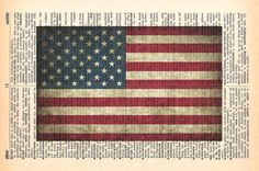 American Flag Dictionary Print  4th of by MapleTreeProductions, $8.00