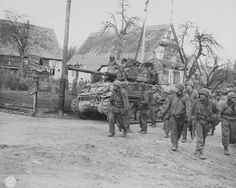 14th Armored Division M4A1 76W with sandbags