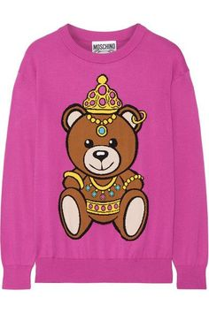 Moschino - Intarsia Cotton Sweater - Pink - xx small