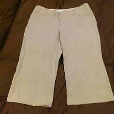 Maurices Capris Polished fit, tan, capri dress pants. NWOT. Maurices Pants Capris