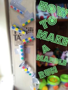 How to: Make a marble run | Octavia and Vicky