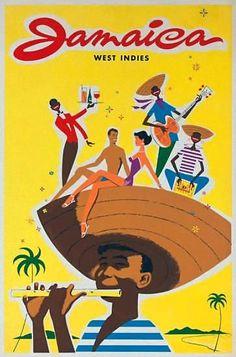Jamaica | Vintage travel poster #Travel #Posters #Vintage #Affiches #Carteles #Viajes #Exotic #Caribe