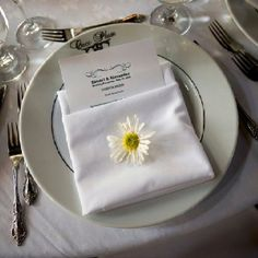 Kristel's wedding place setting