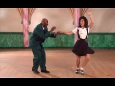 Lindy Hop Swingout with Swivels Lesson with Frankie Manning and Erin Stevens - YouTube