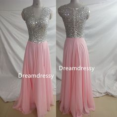 Luxurious A-line Pink Long Chiffon Prom Dress Evening Dress sold by dreamdressy. Shop more products from dreamdressy on Storenvy, the home of independent small businesses all over the world.