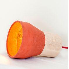 Cement Wood Lamp by Thinkk Studio