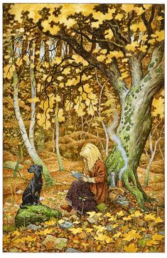 """In the Word Wood by David Wyatt"" Well maybe writing, or reading with a pen in her hand... S"