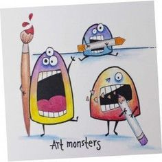 Colored Pencil Lesson Plan: Art Monsters | Free downloadable art lesson plans from @tombowusa