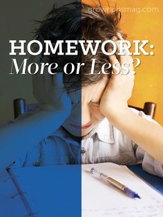Homework: More or Less? - Grown Ups Magazine - Do you ever wonder what dictates your child's homework regimen? Curious about how much homework they should actually be assigned? Keep reading to find out.