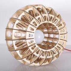 Laser Cut Lamps, Laser Cut Wood, Wooden Lampshade, Wood Lamps, Pendant Chandelier, Lantern Pendant, Paper Flower Art, Laser Cutter Ideas, Cardboard Art