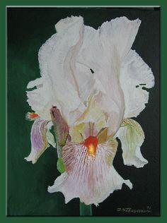 """Acryl ,,Weiße Iris """""""