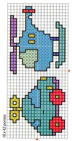 Cat Cross Stitches, Easy Cross Stitch Patterns, Cross Stitch For Kids, Cross Stitch Bookmarks, Simple Cross Stitch, Cross Stitch Baby, Bead Loom Patterns, Cross Stitch Designs, Cross Stitching