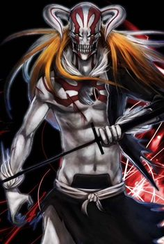 Ichigo fully hollowfied Bleach