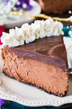 The BEST Chocolate Cheesecake -- no water bath required! #cheesecake #chocolate #dessert #recipe
