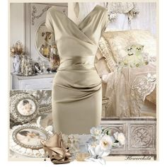 Oyster Dress by flowerchild805 on Polyvore featuring Talbot Runhof, N°21, Dsquared2, Rosantica, Adina Reyter and Cullen