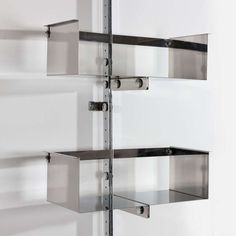 A Chromed Steel Library Unit Designed by Vittorio Introini image 3