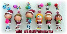 polymer clay   Merry Christmas.....(^..^)   PIG MAMA   Flickr