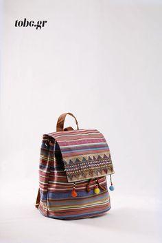 Έθνικ υφασμάτινο σακίδιο με διακριτικό χρυσό κέντημα. Κωδ. 918.020 Τηλ. 2510 241726 Backpacks, Bags, Fashion, Handbags, Moda, Fashion Styles, Backpack, Fashion Illustrations, Backpacker