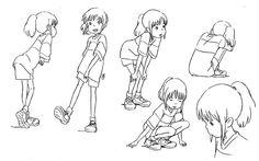 El viaje de Chihiro (2001). Character Design. Model Sheets.