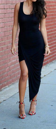 asymmetrical LBD   date night dress   pursuitofshoes.com