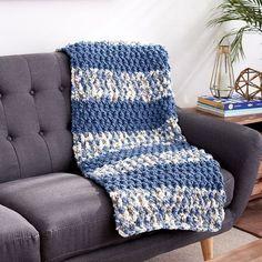 Bernat® Blanket™ Lush Stripes Crochet Blanket