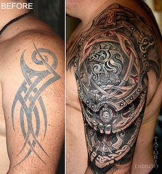 Browse Worlds Largest Tattoo Image Gallery Best Sleeve Tattoos, Cover Up Tattoos, Sleeve Tattoos For Women, Tattoo Sleeve Designs, Leg Tattoos, Body Art Tattoos, Tribal Tattoos, Maori Tattoos, Modern Tattoos