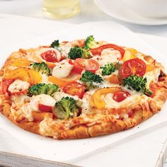 Pizza aux légumes sur pita - Les recettes de Caty