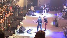 Maynard James Keenan and Justin Chancellor after a perfect performance in Gila River Arena, Az.