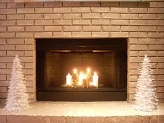 Fireplace Candles | Fireplace ideas with candles