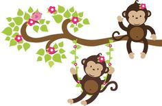 cute monkey illustrations - Google Search