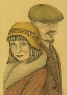 Custom Couple Portrait by Amalia K  Create a custom portrait in detailed photographic style!