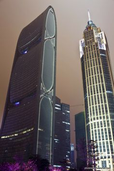 The Pearl River Tower and The Pinnacle